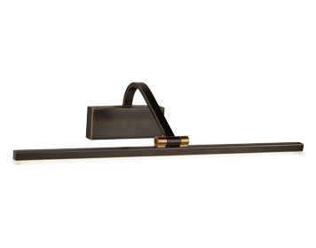 Searchlight LED Picture Light, Black Brushed Gold Finish - 5551-51BG
