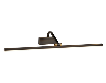 Searchlight LED Picture Light, Black Brushed Gold Finish - 5551-70BG