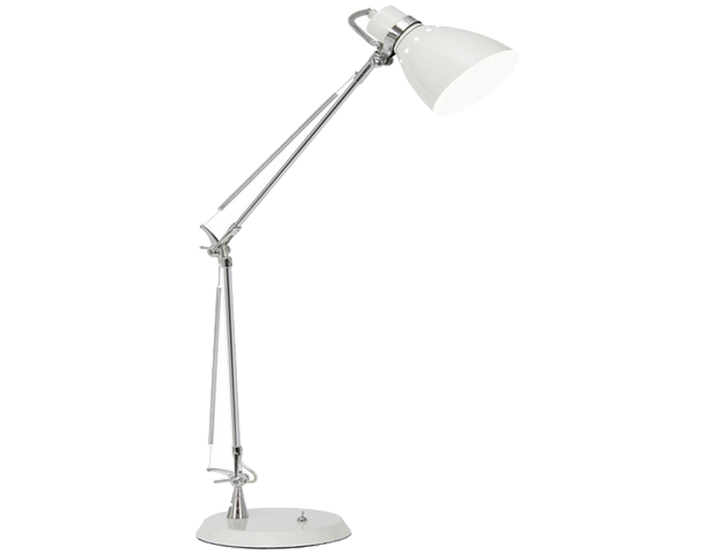 Oaks Lighting Ross Task Table Lamp, White - 5556 TL WH