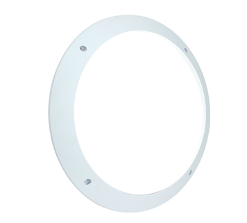 Endon Seran LED Plain Round Outdoor Wall Light, White Textured & Opal Polycarbonate Finish - 55691