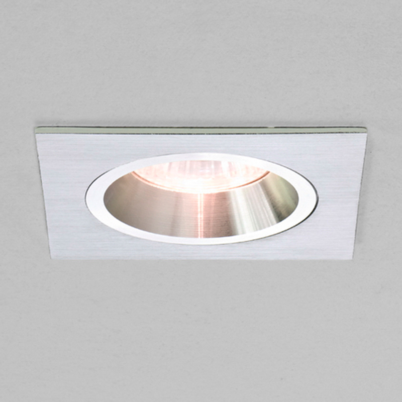 Astro Taro Square 12v Fixed Downlight, Brushed Aluminium Finish - 5577