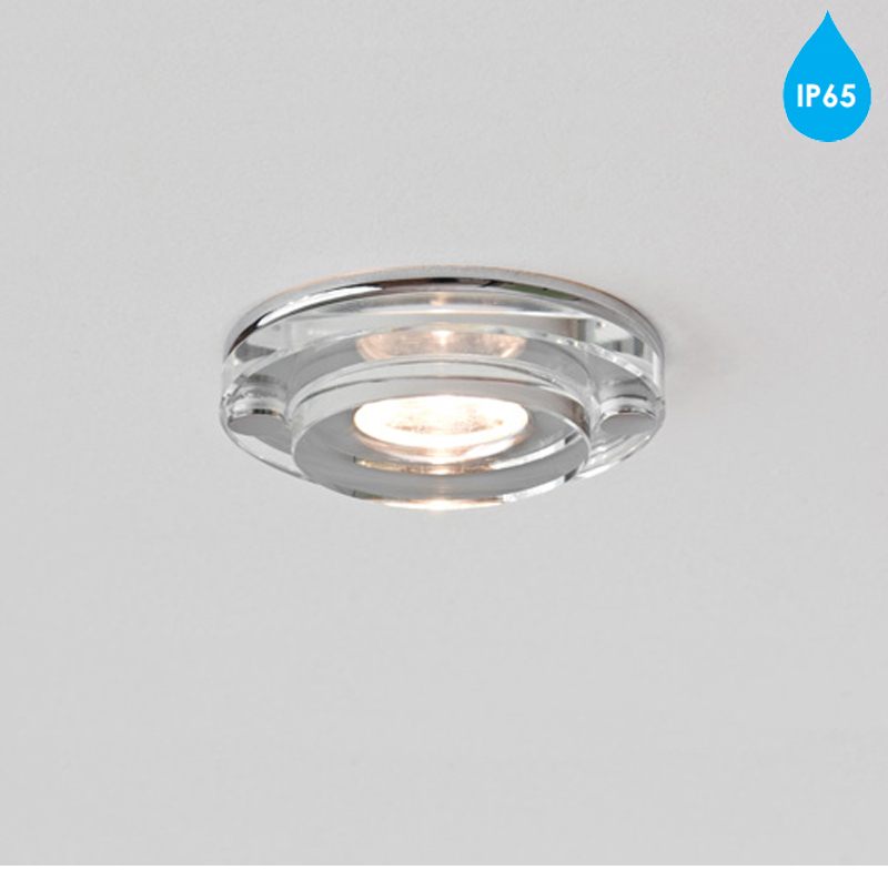Astro \'Mint LED Round\' IP65 Bathroom Downlight, Polished Chrome ...