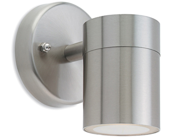 Firstlight Fusion Single Light Wall Light, Stainless Steel Finish - 5614ST