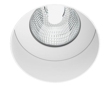 Astro Trimless Round Fixed Recess 12v Spotlight, Matt White Finish - 5623