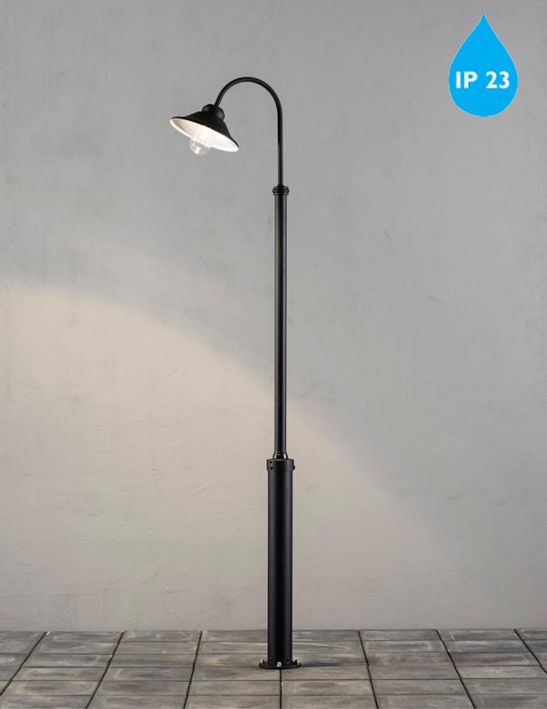 konstsmide vega ip23 2400mm led outdoor lamp post fixture matt