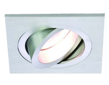 Astro Taro Square Adjustable Downlight, Brushed Aluminium Finish - 5638