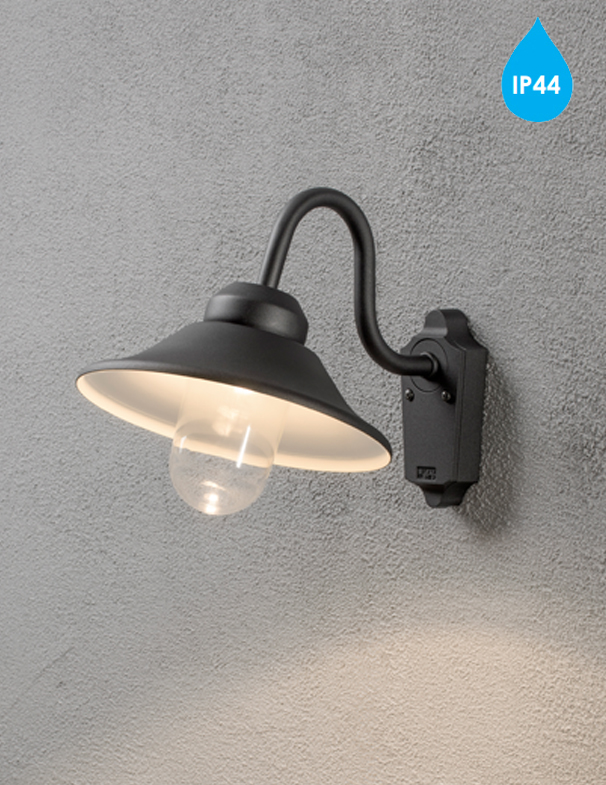 Dimmable Outdoor Wall Lights : Konstsmide 'Vega' IP44 High Powered Dimmable LED Outdoor Wall Light, Black Finish - 564-750 from ...