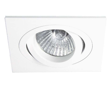Astro Taro Square Adjustable Downlight, Matt White Finish - 5642