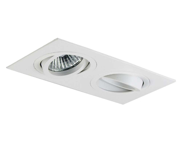 Astro Taro Twin Adjustable Downlight, Matt White Finish - 5648