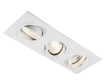 Astro Taro Triple Adjustable Downlight, Matt White Finish - 5650