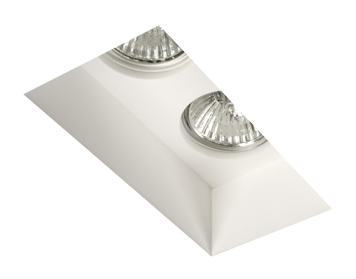 Astro Blanco Twin Recess Downlight, Plaster Finish - 5654