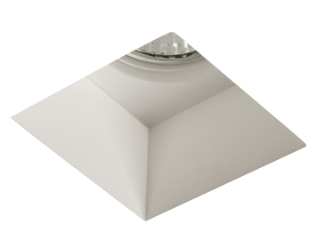 Astro Blanco Square Recess Downlight, Plaster Finish - 5655