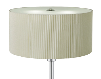 Searchlight Drum Pleat 3 Light Floor Lamp, Chrome Finish With Cream Shade - 5663-3CR