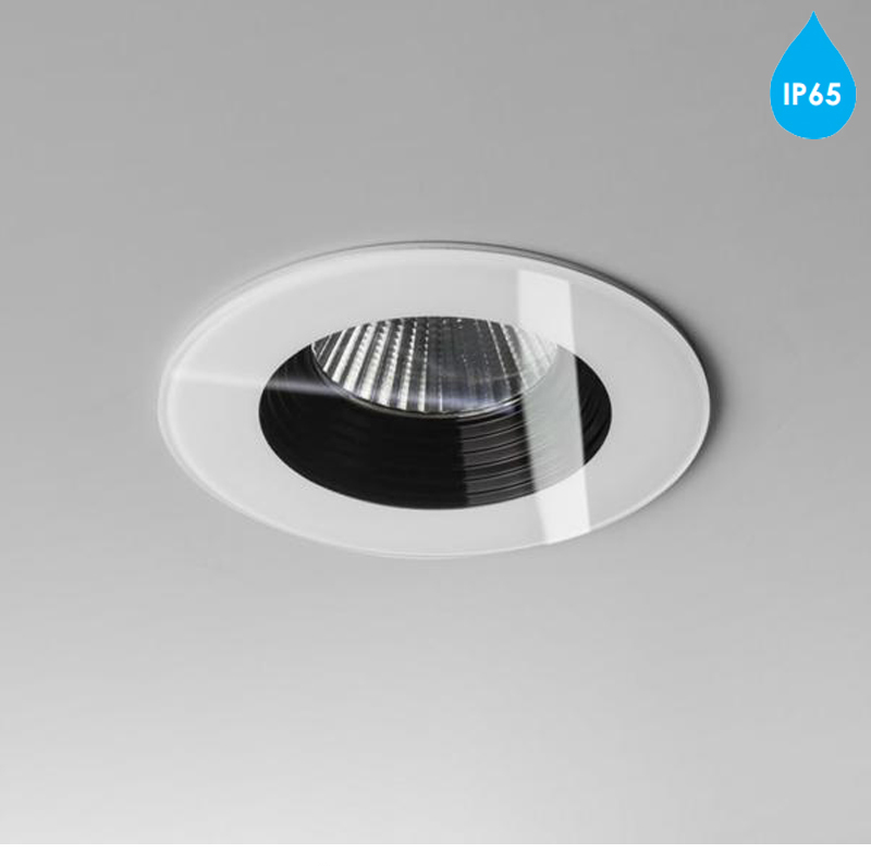 astro 39 vetro round 39 ip65 led bathroom downlight white. Black Bedroom Furniture Sets. Home Design Ideas