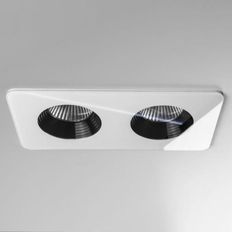 Astro Vetro Twin IP65 LED Bathroom Downlight White Finish