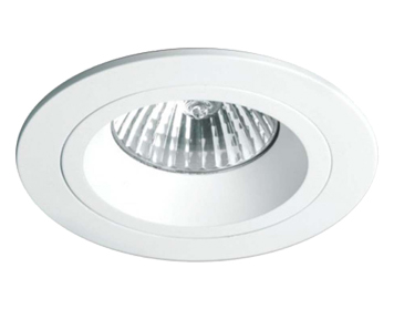 Astro Taro Round Fire Rated Fixed Downlight, Matt White Finish - 5672