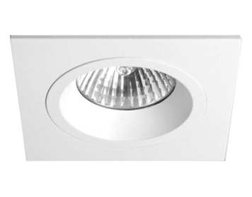 Astro Taro Square Fire Rated Fixed Downlight, Matt White Finish - 5674