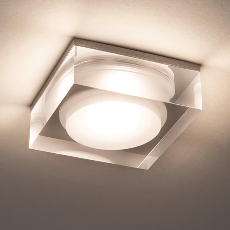 Astro Vancouver 90 Square IP44 LED Bathroom Downlight Polished Chrome