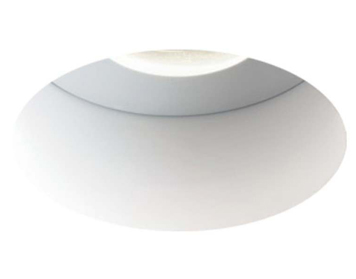 Astro Trimless Round Fire Rated Fixed LED Recess Spotlight, Matt White Finish - 5702