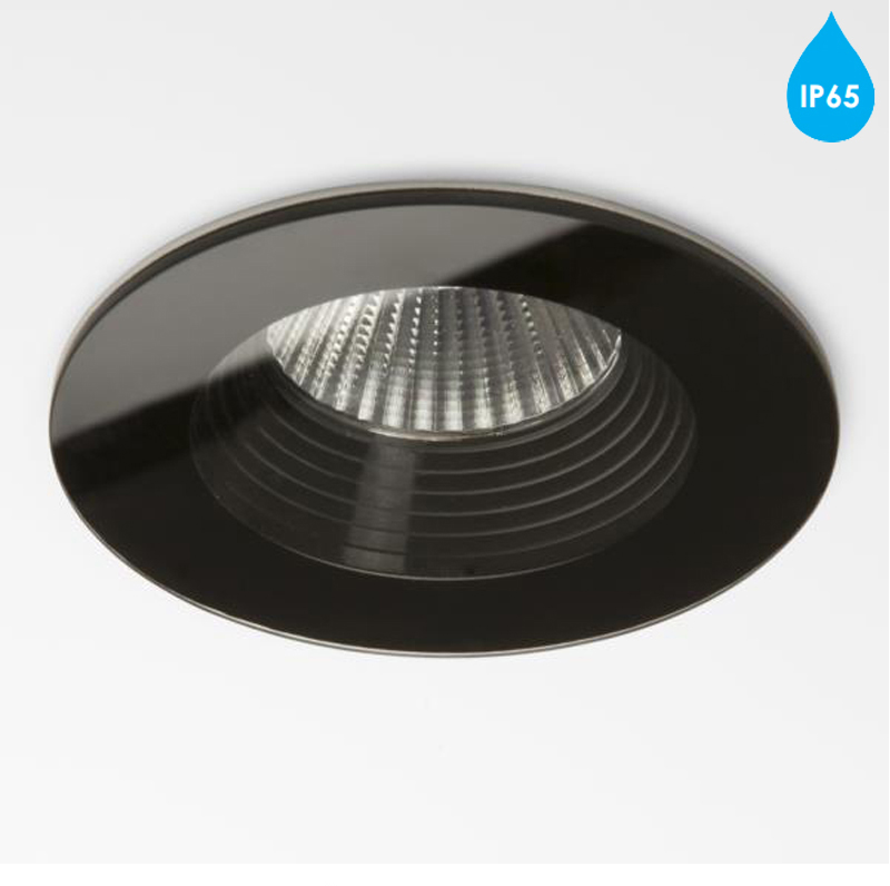 astro 39 vetro round 39 ip65 led bathroom downlight black finish 5704 from easy lighting. Black Bedroom Furniture Sets. Home Design Ideas