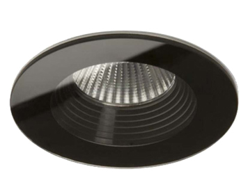 Astro Vetro Round Fire Rated 2700K Downlight, Black Finish - 5734