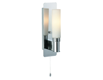 Firstlight Spa Switched Wall Light, Chrome Finish With Opal Glass - 5753CH