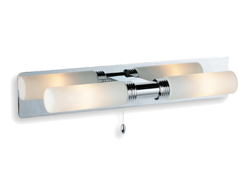 Firstlight Spa 2 Light Switched Wall Light, Chrome Finish With Opal Glass - 5754CH