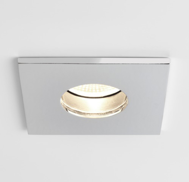 Astro Obscura Square IP65 Bathroom Spotlight, Polished Chrome - SALE-5766 Special Offer