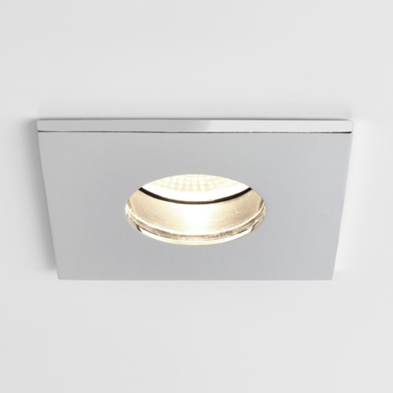 Astro Obscura Square IP65 Bathroom Spotlight, Polished Chrome - SALE-5766