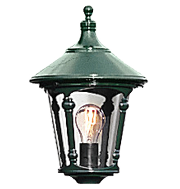 Konstsmide Virgo 1 Light Outdoor Post *Head Only*, Green Finish With Smoked Acrylic Panels - 578-600