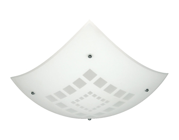 Oaks Lighting Square Non-Electric Ceiling Pendant, Glass Finish - 580 A