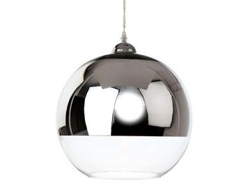 Firstlight Club 1 Light Ceiling Pendant Light, Polished Chrome Finish With Clear Glass Finish - 5908CH