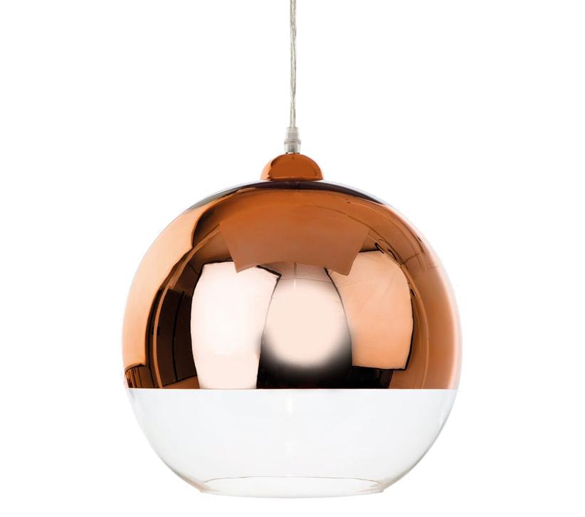 Rocamar Copper And Glass Single Pendant: Firstlight Club 1 Light Ceiling Pendant Light, Copper