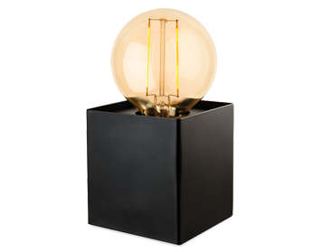 Firstlight Richmond 1 Light Table Lamp, Black Finish With LED Vintage Style Lamp - 5926BK
