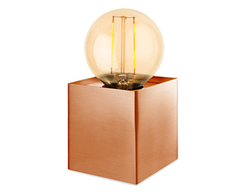 Firstlight Richmond 1 Light Table Lamp, Brushed Copper Finish With LED Vintage Style Lamp - 5926CP