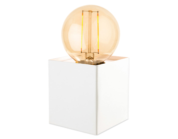 Firstlight Richmond 1 Light Table Lamp, White Finish With LED Vintage Style Lamp - 5926WH