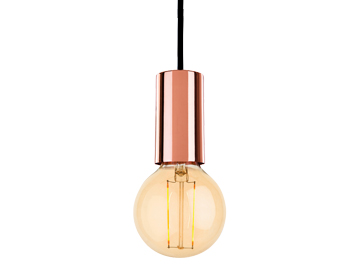 Firstlight Berkeley 1 Light Ceiling Pendant Light With LED Vintage Style  Lamp, Copper Finish