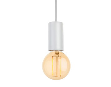 Firstlight Berkeley 1 Light Ceiling Pendant With LED Vintage Style Lamp White Finish