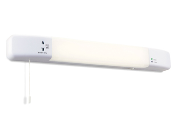 Firstlight Slimline LED Bathroom Wall Light With Built In Shaver Socket, White Finish - 5928WH