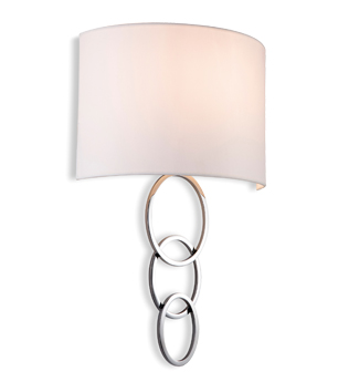 firstlight 1 light wall light polished chrome finish u0026 cream shade