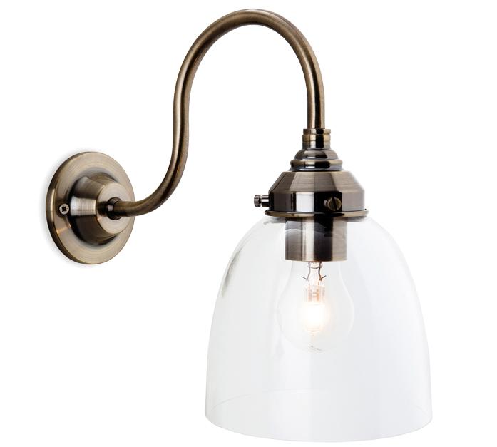 Firstlight 'Victoria' 1 Light Wall Light, Antique Brass
