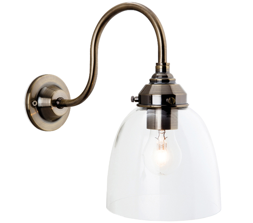 Wall Sconces Victoria Bc: Firstlight Victoria 1 Light Wall Light, Antique Brass With