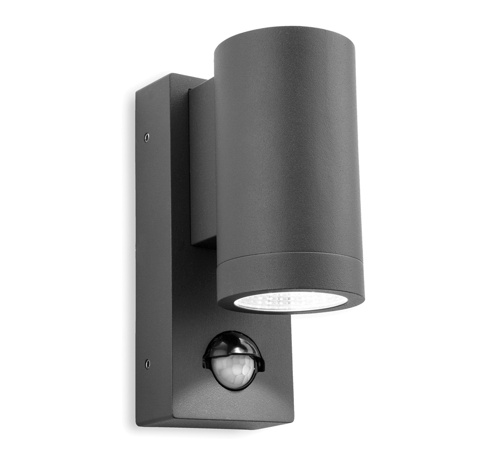 Firstlight Shelby IP65 LED 2 Light Outdoor Up & Down PIR Sensor Wall Light, Graphite Finish ...