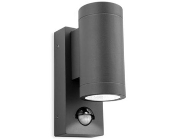 Firstlight Shelby LED 2 Light Outdoor Up & Down PIR Sensor Wall Light, Graphite Finish - 5940GP