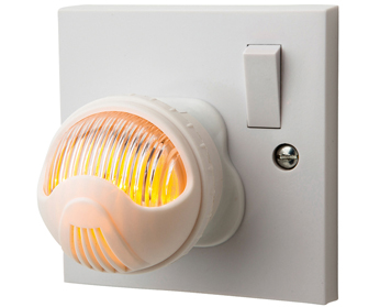 Firstlight LED Adjustable Dusk To Dawn Night Light, White Finish With Amber Light - 5942AM