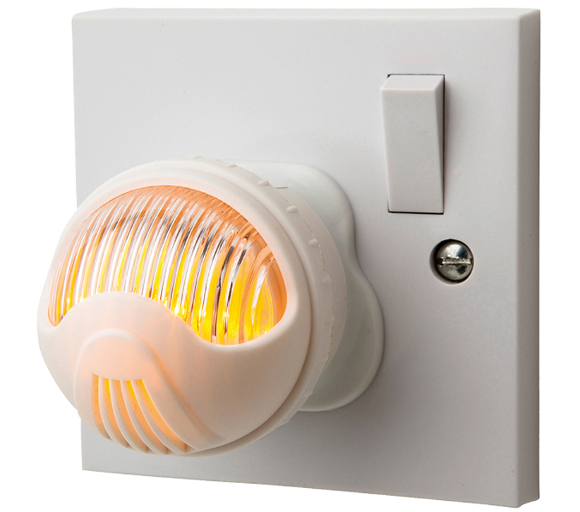 25786fa73828 Firstlight LED Adjustable Dusk To Dawn Night Light, White Finish With Amber  Light - 5942AM