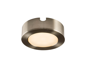 Endon Hera Kit 2.5W Warm White Under Cabinet LED Light, Satin Nickel Plate & Frosted Polycarbonate - 59854