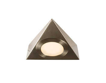 Endon Nyx Kit 2.5W Warm White Under Cabinet LED Light, Satin Nickel Plate & Frosted Polycarbonate - 59878