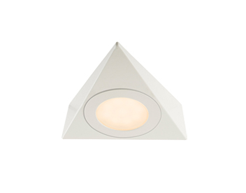 Endon Nyx Kit 2.5W Warm White Under Cabinet LED Light, Matt White Paint & Frosted Polycarbonate - 59880