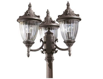 Leds C4 Galatea Decorative Triple Head Outdoor Lamp *Head(s) Only*, Oxide Brown Finish - 60-9152-18-E7